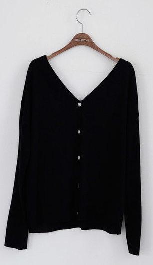 V-neck Merino knit cardigan