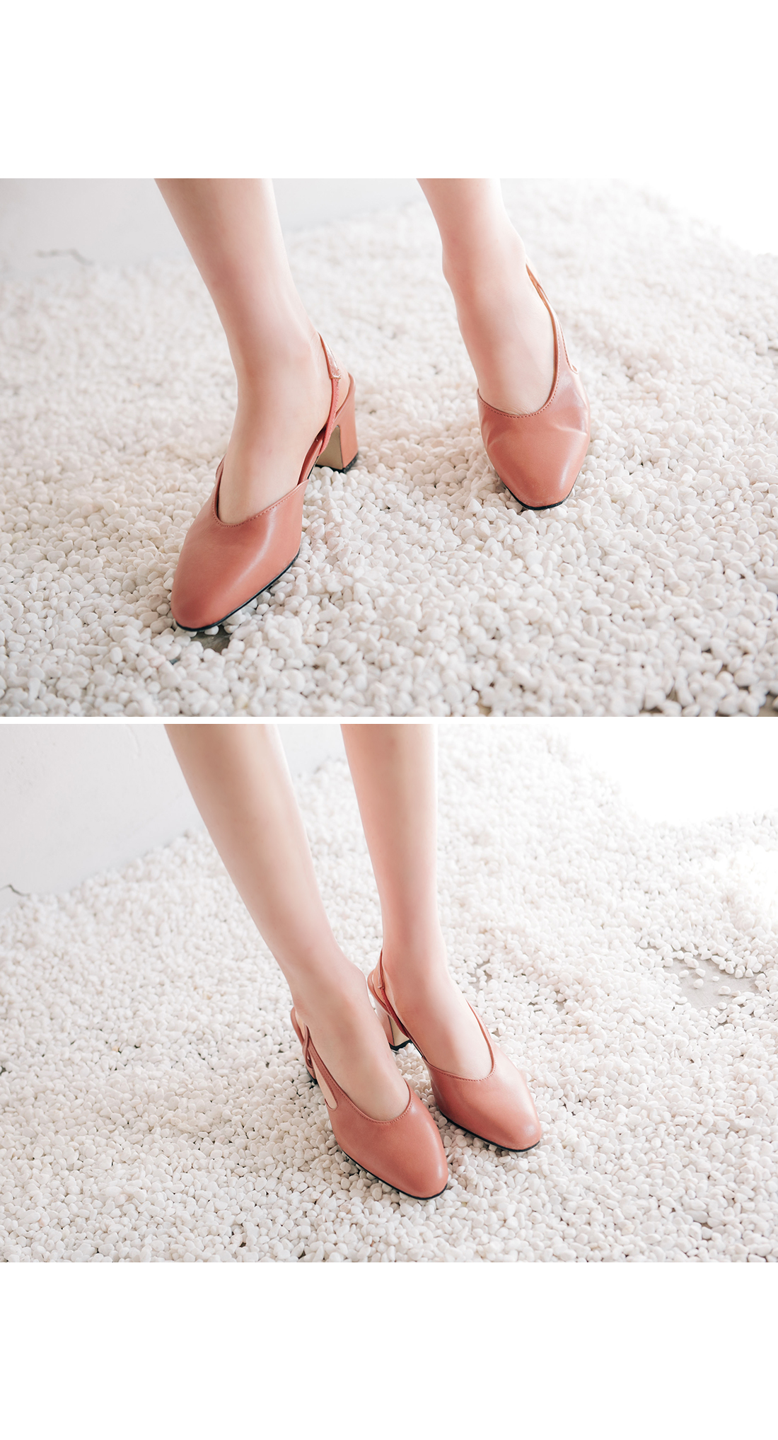 SLINGBACK MIDDLE HEEL SHOES
