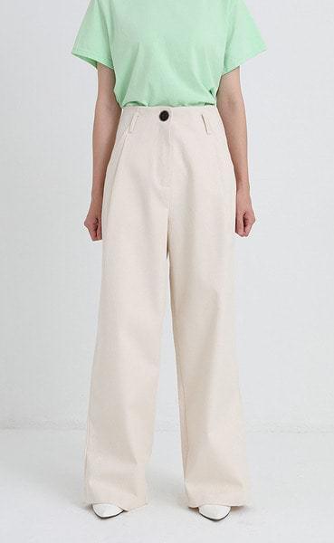 hard cotton wide pants (2colors)