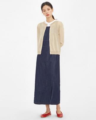 thin texture basic cardigan