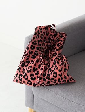 2 color leopard point cotton eco bag