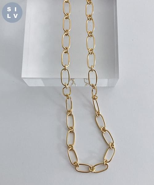 (silver925) chain choker necklace