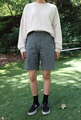 Cozy color short pants