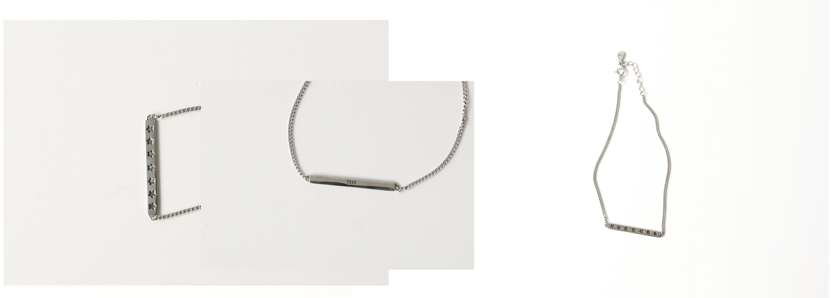 star bar pendant anklet