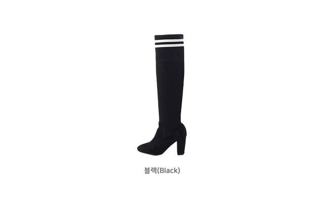 Helens Spaniel High Boots 7.5cm