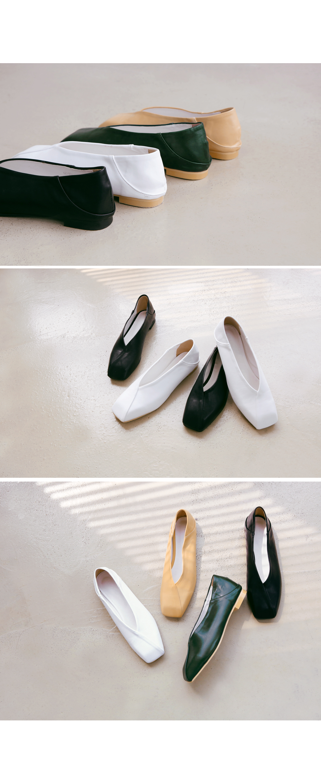 TWO WAY SQUARE FLAT SHOES
