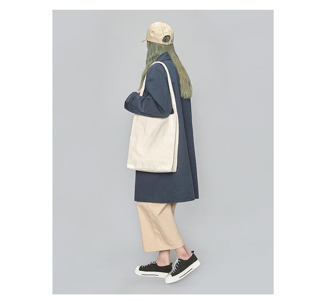 pocket cotton eco-bag (2 colors)아이보리/4월19-20일 입고예정