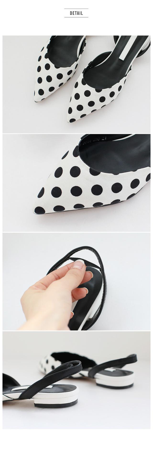Amore Slingback Flat Shoes 1.5cm