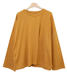 Loose-fitting round t-shirt