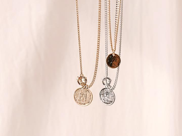 VINTAGE COIN LAYERED NECKLACE 項鍊
