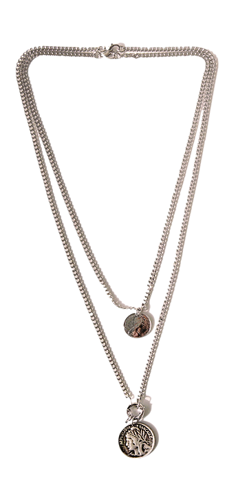 VINTAGE COIN LAYERED NECKLACE