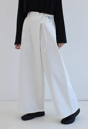 String wide wrap pants (3colors)