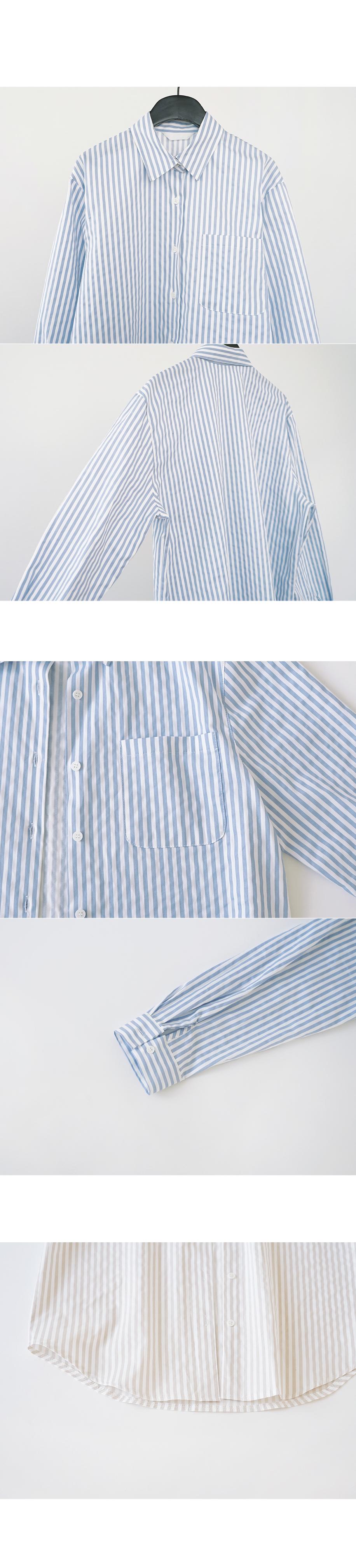marine stripe shirt (2colors)