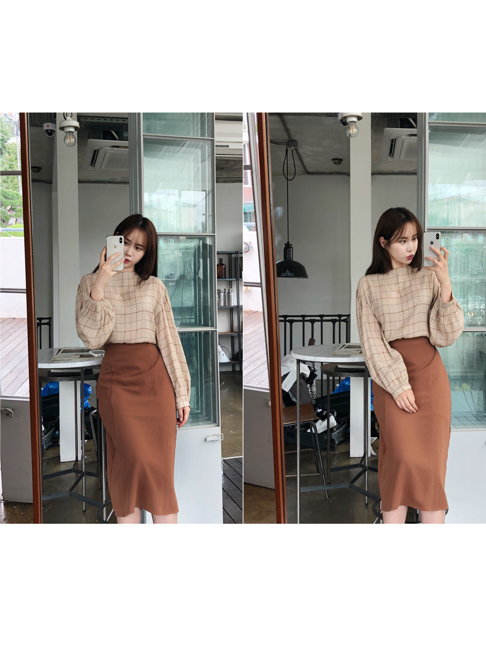 Day long incision skirt