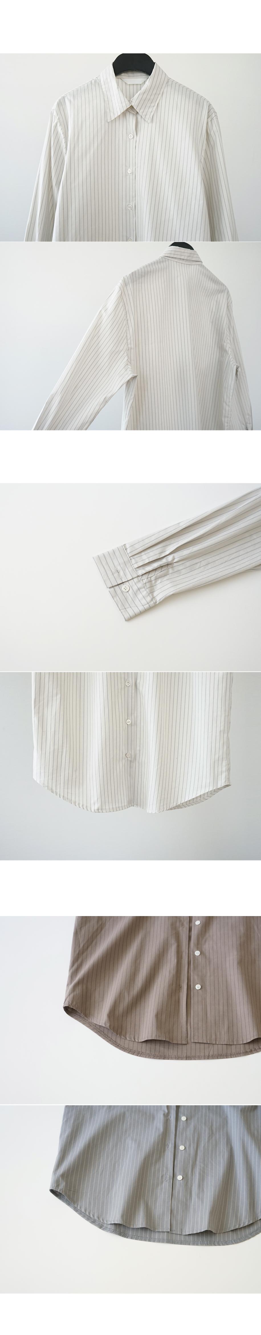 pinstripe cotton shirt (3colors)