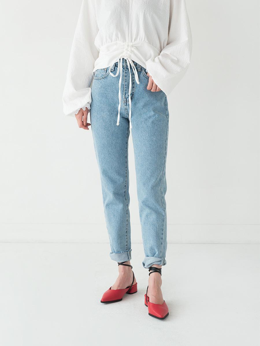 retro washing denim pants