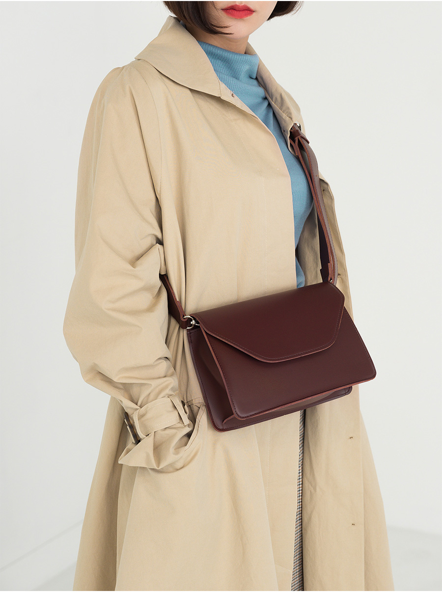 flare single button long trench coat