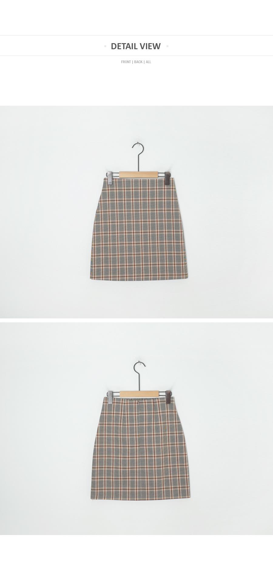 Autumn check skirt