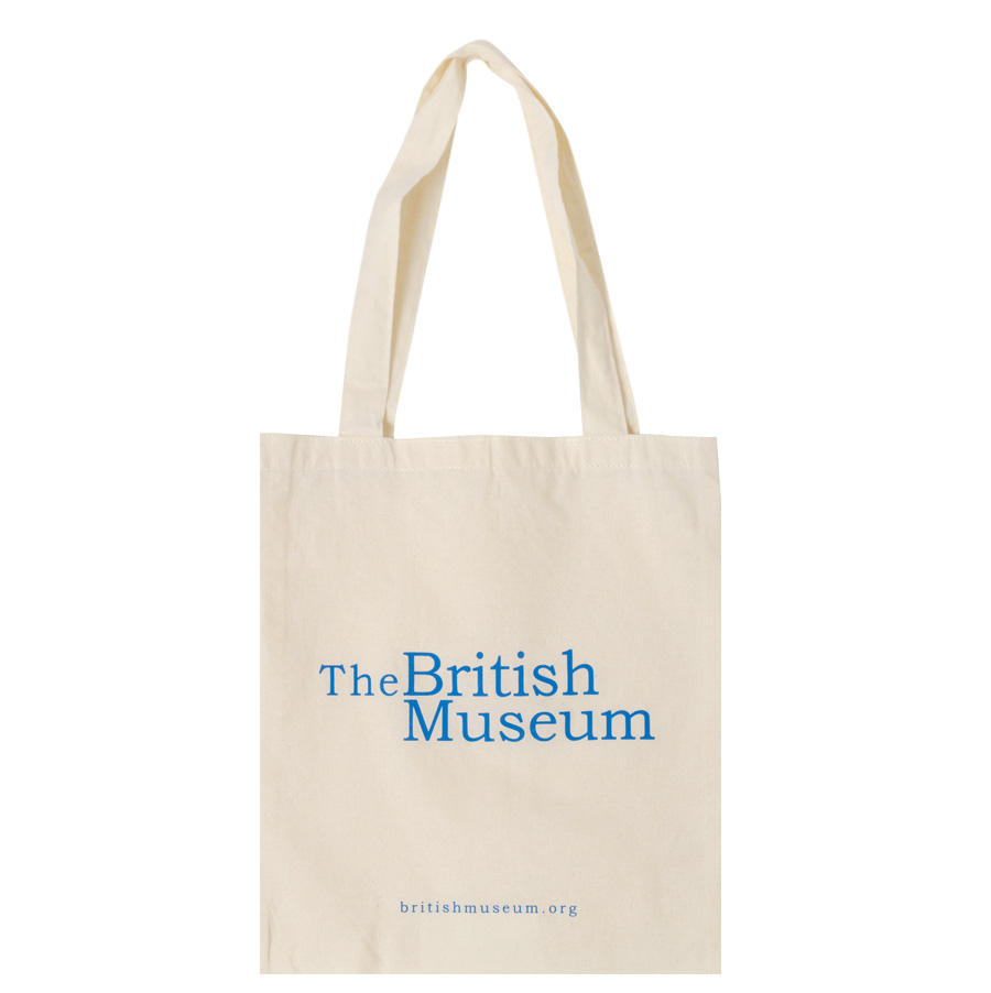Museum lettering cotton bag_H (size : one)
