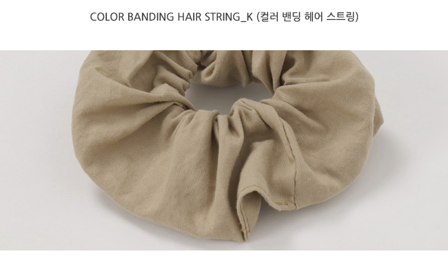 Color banding hair string_K (size : one)