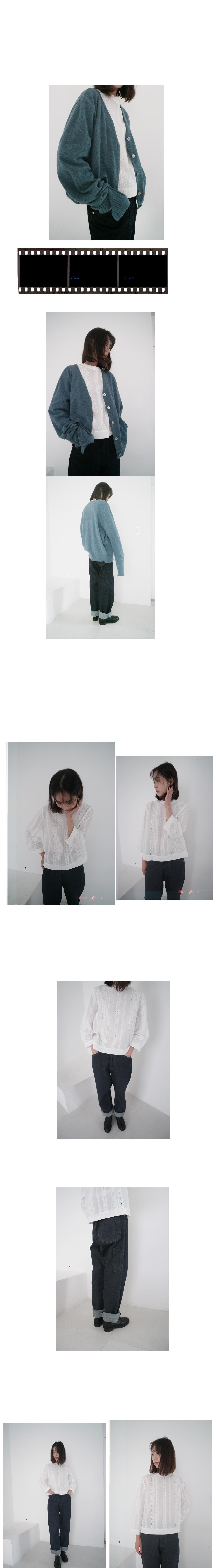 bohemian punching lace blouse
