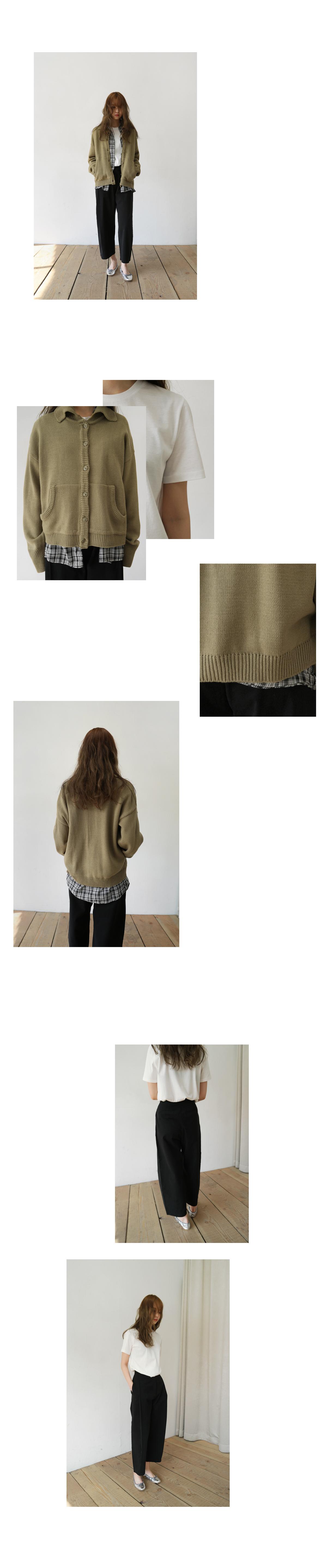 collar shape cardigan (3colors)