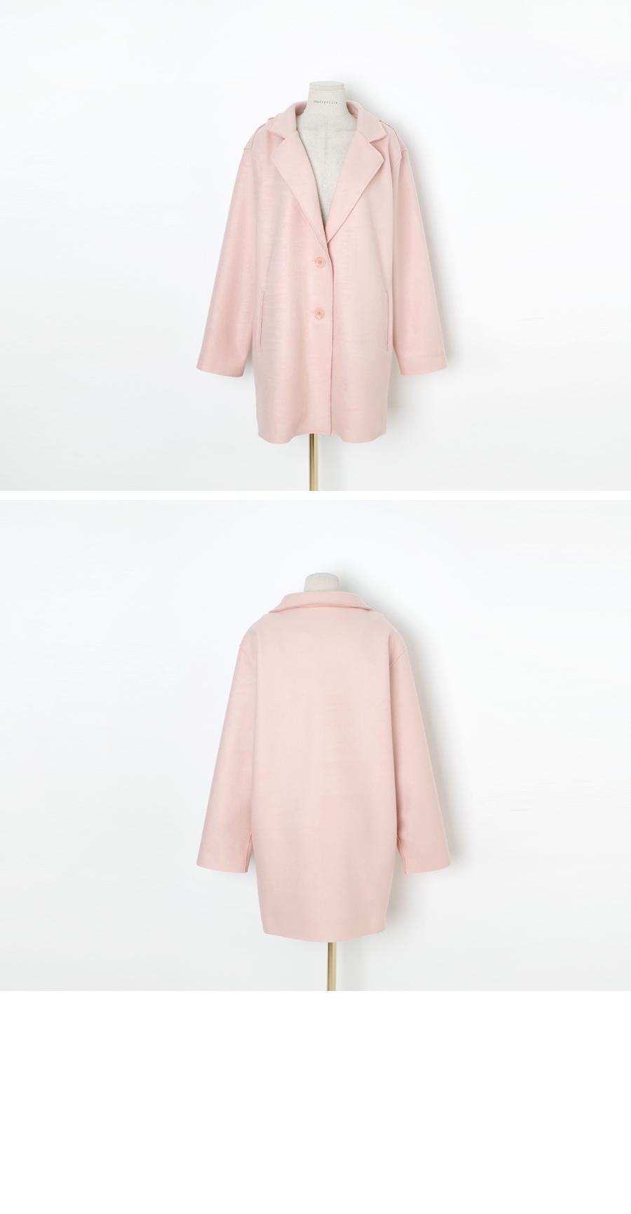 Soft macaroon coat