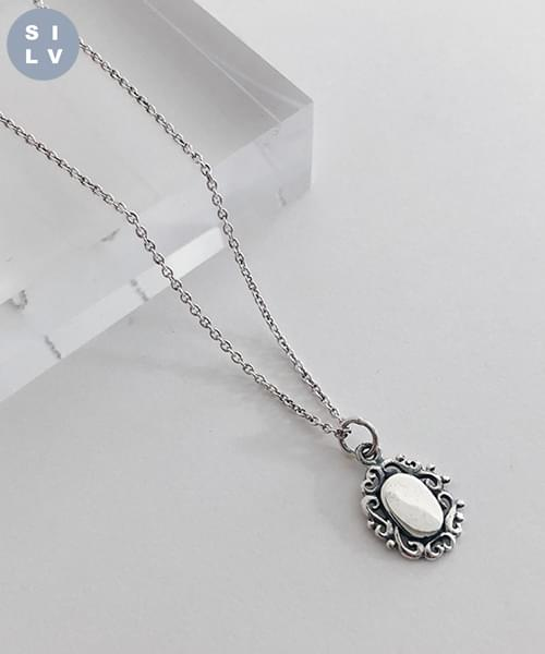 (silver925) mirror necklace