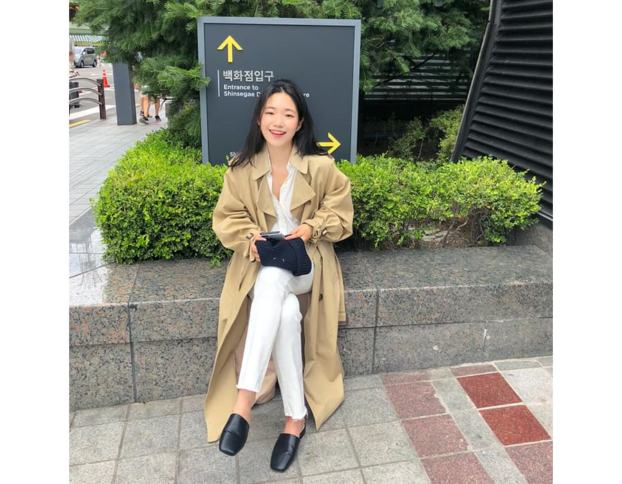 Monologue classic trench coat_M (size : free)
