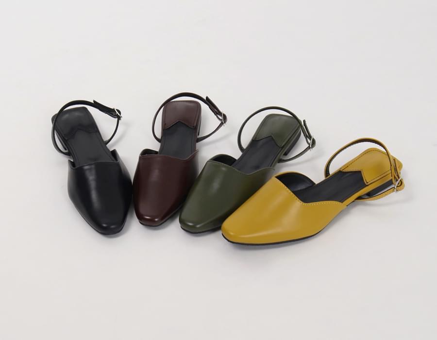 Warm color sling-back shoes_B (size : 230,235,240,245,250)