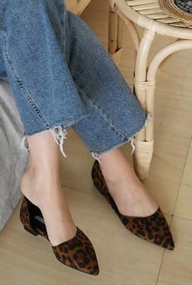 Leopard suede stiletto shoes