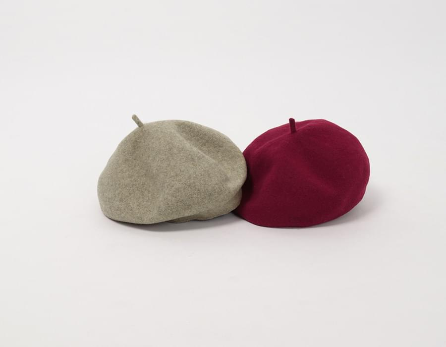 Full wool beret_K (size : one)
