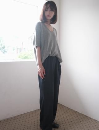 button point satin pants (3colors)