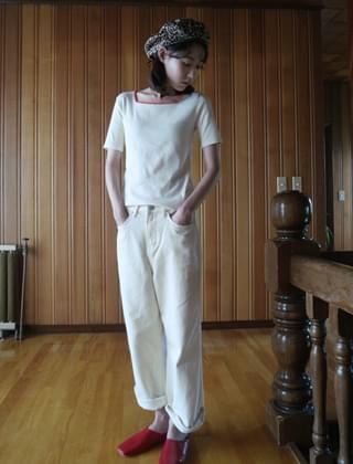 casual cotton ankle pants (2colors)