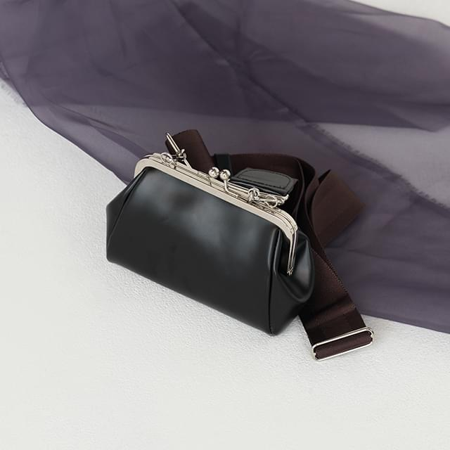 wide strap coin clutch bag