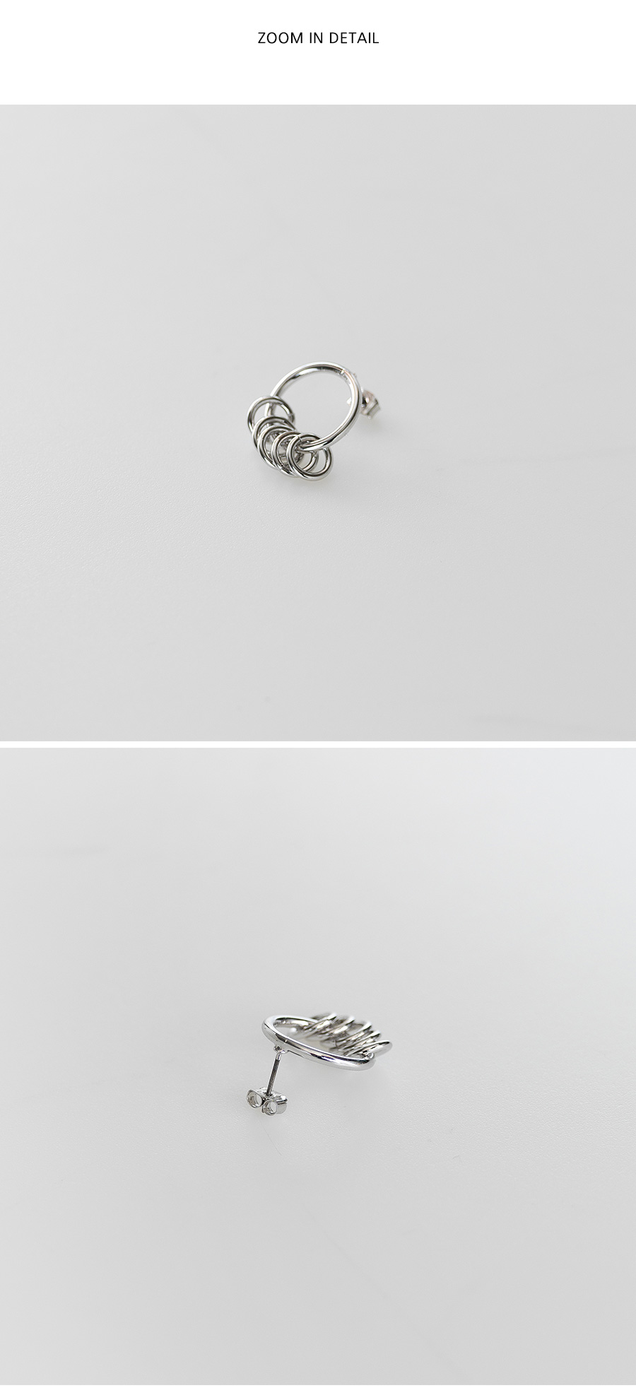 simple ring point earring