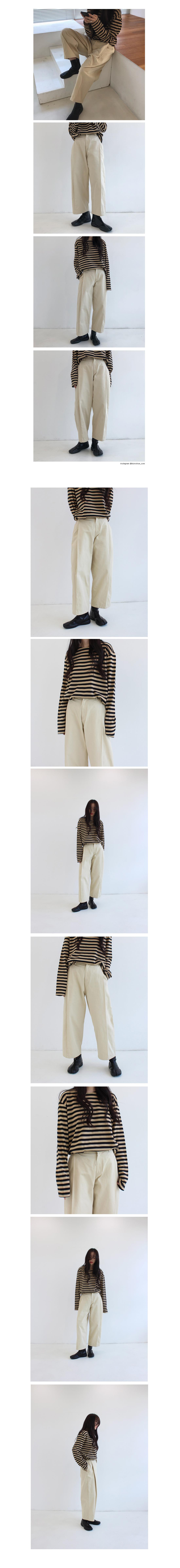 Loose fit stripe knit (3colors)