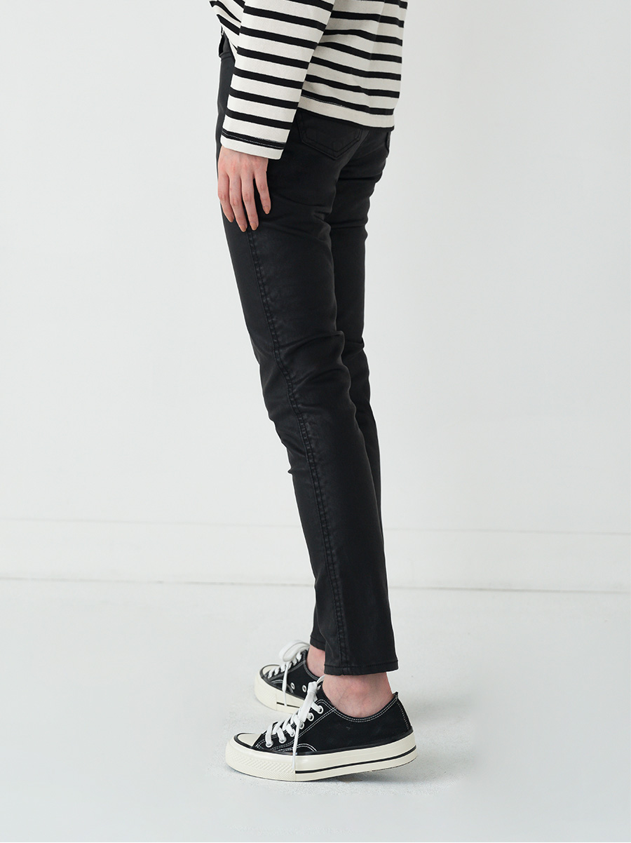 chic mood skinny fit leather pants