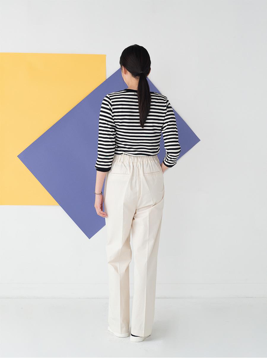 casual transverse stripe tee