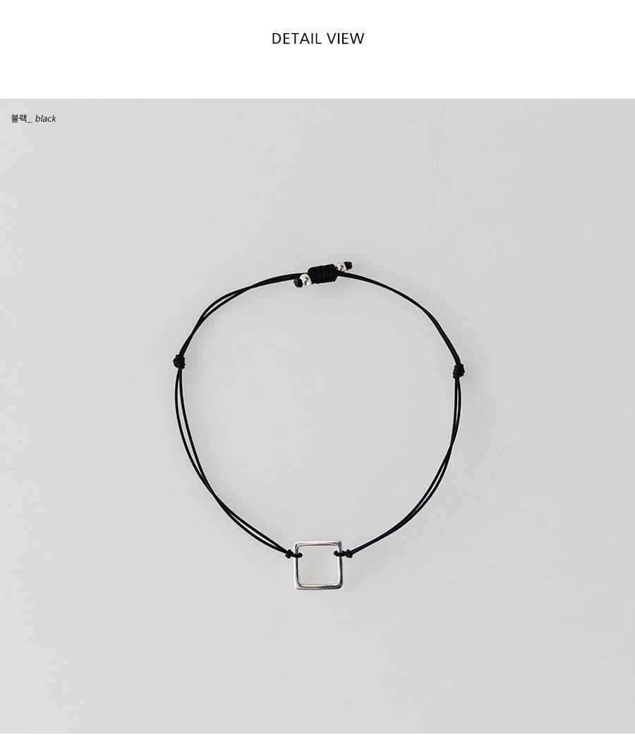 square pendant bracelet