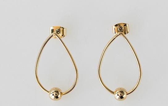 water drop hoop earring