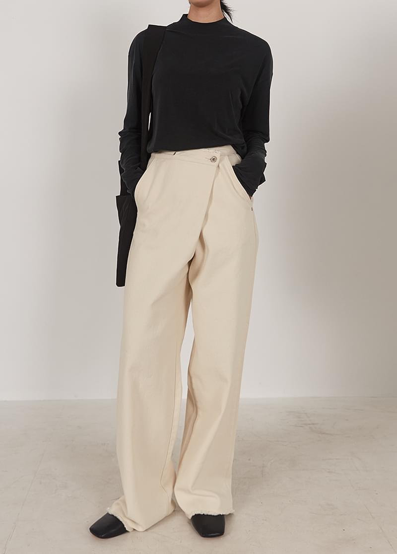 Cotton wrap pants