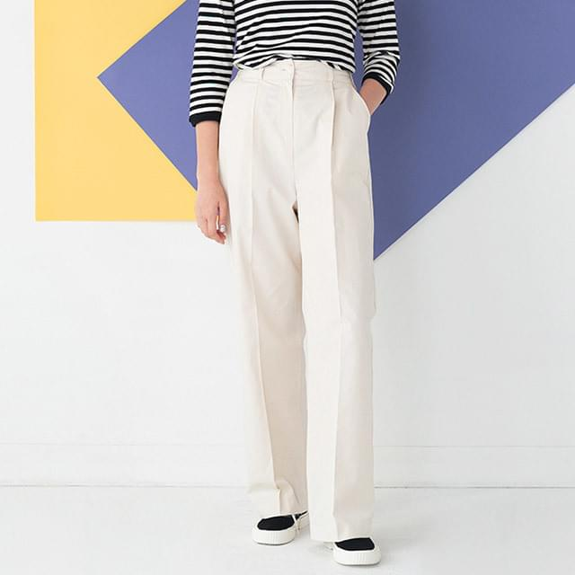 pintuck detail neat pants
