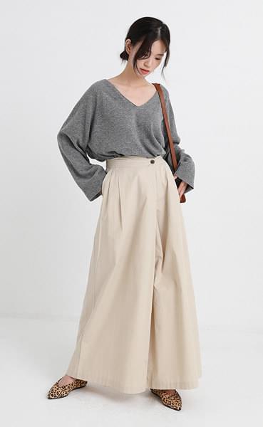 local soft flap wide pants (2colors)