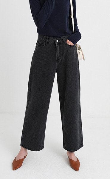 mono crop denim pants (3colors)