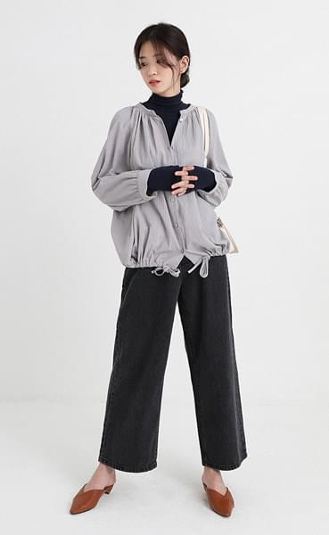 get ready crease blouse (2colors)