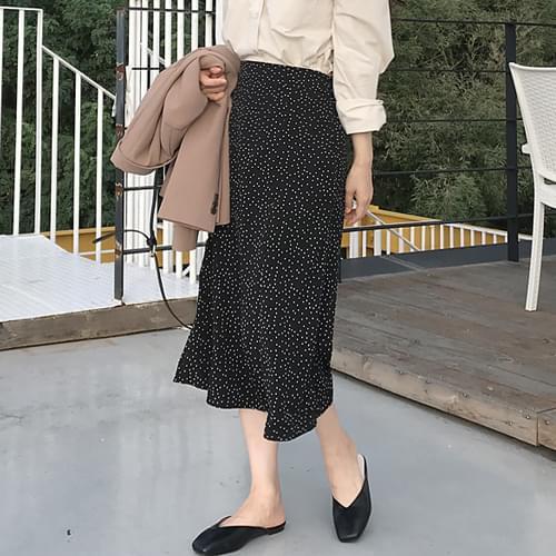 Laura Dot Long Skirt