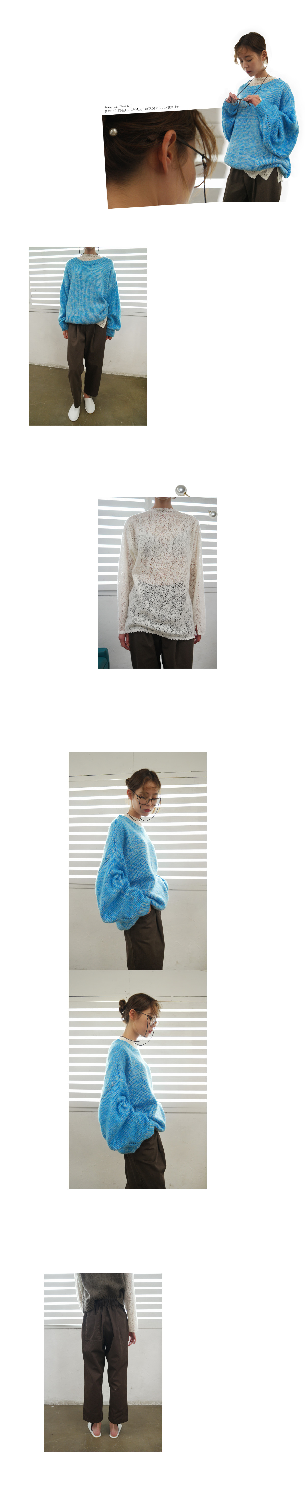 pastel batwing over fit knit (3colors)