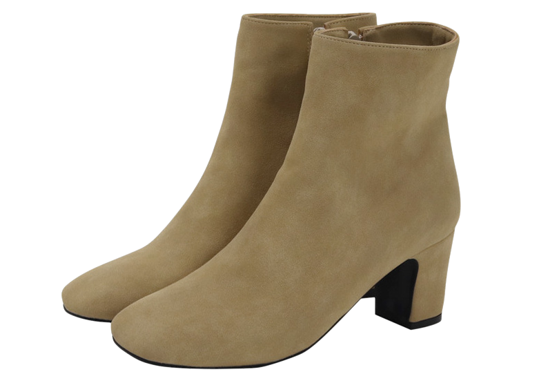 Suede basic ankle boots_K (size : 225,230,235,240,245,250)