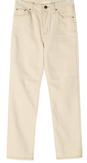 benefit cotton straight pants (s, m)